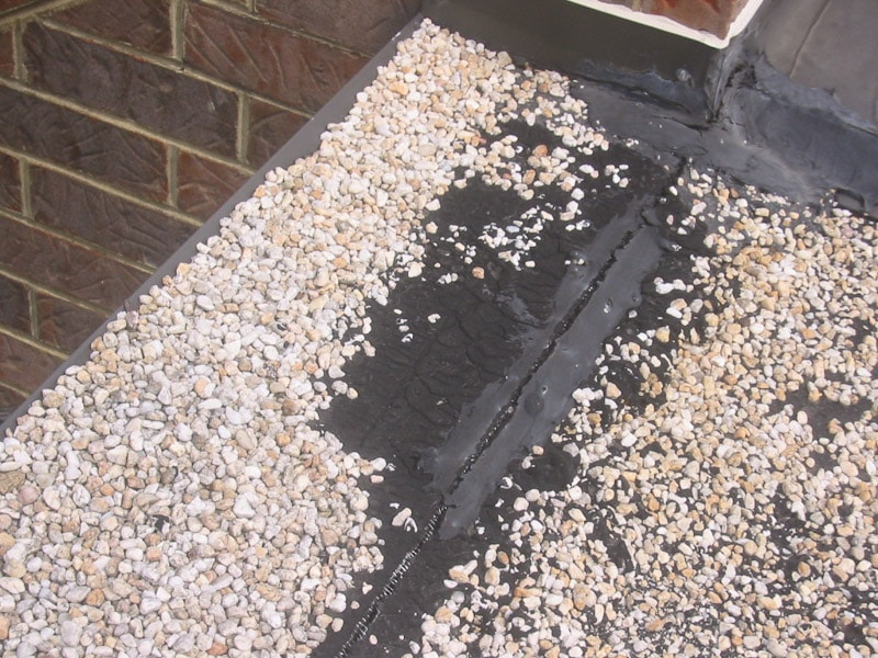 Gaps in the seam of a membrane roof, inspected by Garland UK